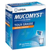 MUCOMYST 200 mg Poudre pour solution buvable en sachet B/18 à VILLEFONTAINE