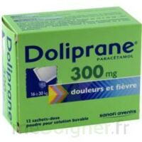 DOLIPRANE 300 mg Poudre pour solution buvable en sachet-dose B/12 à VILLEFONTAINE