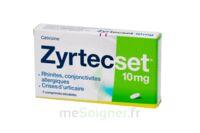 ZYRTECSET 10 mg, comprimé pelliculé sécable à VILLEFONTAINE