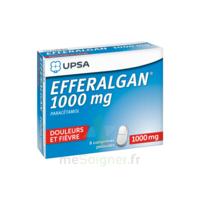 Efferalgan 1000 mg Comprimés pelliculés Plq/8 à VILLEFONTAINE