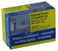 MAGNESIUM/VITAMINE B6 BIOGARAN CONSEIL 48 mg/5 mg, comprimé pelliculé à VILLEFONTAINE