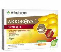 Arkoroyal Dynergie Ginseng Gelée royale Propolis Solution buvable 20 Ampoules/10ml à VILLEFONTAINE