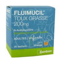 FLUIMUCIL EXPECTORANT ACETYLCYSTEINE 200 mg SANS SUCRE, granulés pour solution buvable en sachet édulcorés à l'aspartam et au sorbitol à VILLEFONTAINE