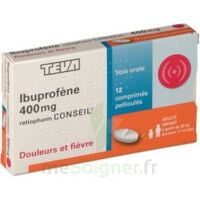 IBUPROFENE TEVA CONSEIL 400 mg, comprimé pelliculé à VILLEFONTAINE