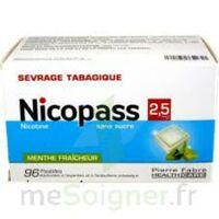 Nicopass 2,5 mg Pastille menthe fraîcheur sans sucre Plq/96 à VILLEFONTAINE