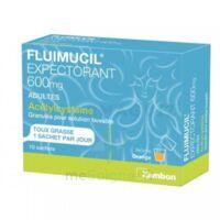 FLUIMUCIL EXPECTORANT ACETYLCYSTEINE 600 mg Glé s buv adultes 10Sach à VILLEFONTAINE