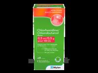 CHLORHEXIDINE/CHLOROBUTANOL MYLAN 0,5 ml/0,5 g pour 100 ml, solution pour bain de bouche en flacon à VILLEFONTAINE