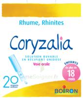 Boiron Coryzalia Solution buvable unidose B/20 à VILLEFONTAINE